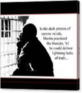 Mlk In Jail Canvas Print