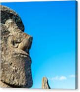 Moai Closeup Canvas Print