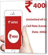 Mobile Recharge Online  Online Bill Payment  10digi Canvas Print