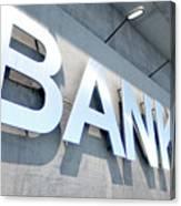 Modern Bank Building Signage Canvas Print