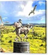 Modern Horse Statue Canvas Print