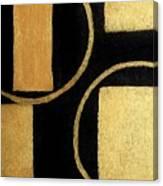 Modern Shapes Gold Canvas Print