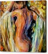 Modest Girl Canvas Print