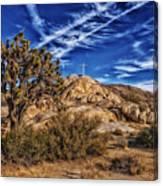 Mojave Memorial Cross And War Memorial Canvas Print