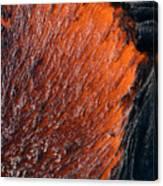 Molten Pahoehoe Lava Canvas Print