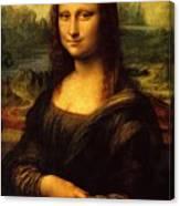 Mona Lisa Portrait Canvas Print