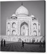 Monochrome Taj Mahal - Square Canvas Print