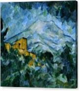 Mont Sainte-victoire And Chateau Noir Canvas Print