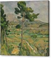 Mont Sainte-victoire And The Viaduct Of The Arc River Valley Canvas Print