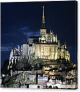 Mont St. Michel At Night Canvas Print