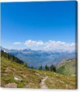 Montana-glacier National Park-highline Trail Canvas Print
