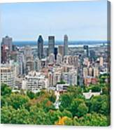 Montreal Day View Panorama Canvas Print