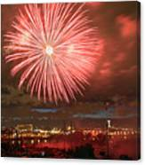 Montreal Fireworks Celebration  Canvas Print