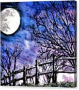 Moon O're Hocking Hills Canvas Print