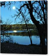 Moon Over Pierce Lake Canvas Print