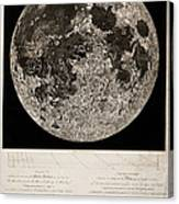 Moon Surface By John Russell Canvas Print