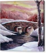 Moonlight Crossing Canvas Print