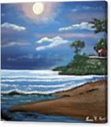 Moonlight In Rincon II Canvas Print