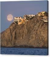 Moonset Over Pedregal Canvas Print