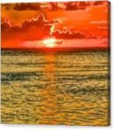 Moorea Sunset Canvas Print