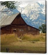 Mormon Row Barn Canvas Print