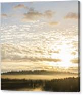 Morning At Golf Course Canvas Print
