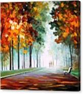 Morning Fog - Palette Knife Oil Painting On Canvas By Leonid Afremov Canvas Print