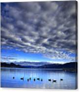Morning Light On Okanagan Lake Canvas Print