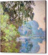 Morning On The Seine Near Giverny 1897 Canvas Print