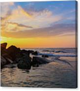 Morris Island Sunrise Canvas Print