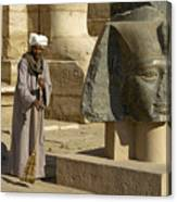 Mortuary Temple Of Rameses II Canvas Print