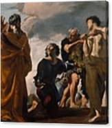 Moses And The Messengers From Canaan Canvas Print