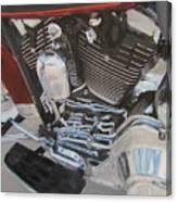 Motorcycle Close Up 1 Canvas Print