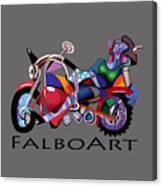 Motorcycle Mama Canvas Print