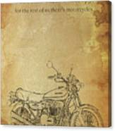 Motorcycle Quote Canvas Print