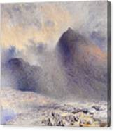 Mount Snowdon Through Clearing Clouds Canvas Print