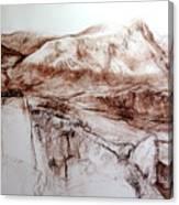 Mountains In Snowdonia Canvas Print