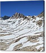 Muir Pass Panorama From High Above - John Muir Trail Canvas Print