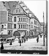 Munich, Germany, Street Scene, 1903, Vintage Photograph Canvas Print