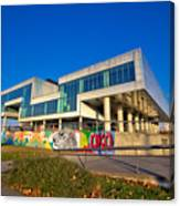 Museum Of Contemporary Art In Zagreb Exterior Canvas Print