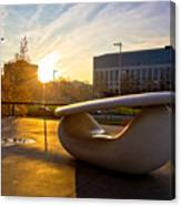 Museum Of Contemporary Art In Zagreb Exterior Detail Canvas Print