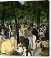 Music In The Tuileries Canvas Print