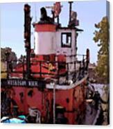 Muskegon Tug Canvas Print