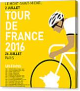 My Tour De France Minimal Poster 2016 Canvas Print