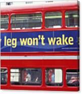 My Leg Went To Sleep In London Canvas Print
