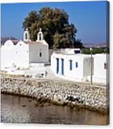Mykonos Church Canvas Print