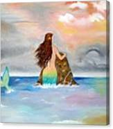 Mysteen The Mystical Queen Of The Sea Canvas Print