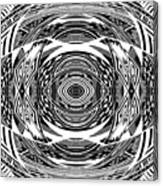 Mystical Eye - Abstract Black And White Graphic Drawing Canvas Print
