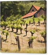 Napa Barn Canvas Print