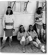 Native American Extras Dressed As Apache Warriors The High Chaparral Set Old Tucson Arizona 1969 Canvas Print